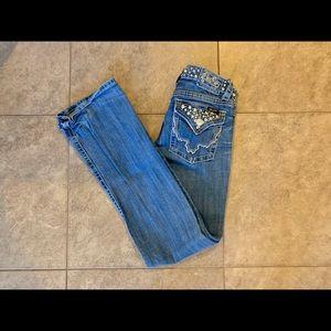 Miss Me Bootcut Studded Waist Jeans